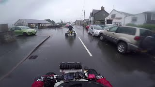 Wet Welsh Country Lanes Yamaha Raptor 700R Road Legal Quad Bike Wales 2016