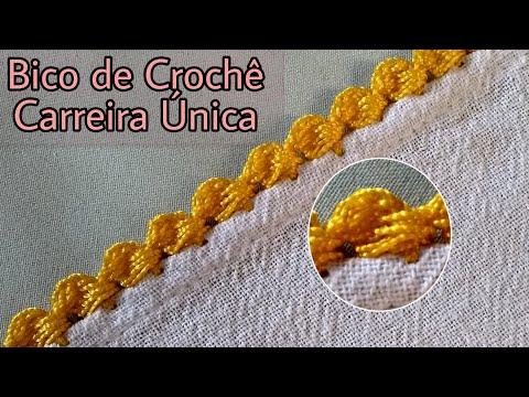 BICO DE CROCHÊ CARREIRA ÚNICA #26