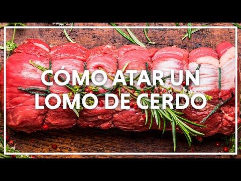 Como atar con hilo de cocina el lomo de cerdo youtube for Como cocinar manos de cerdo