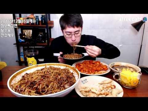 Handsome Guy Eating Show | Korean Black Noodles