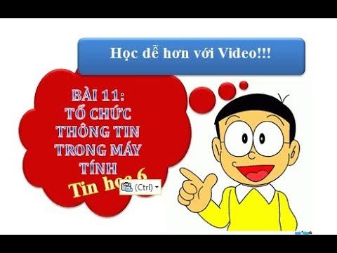 Bài 11: Tổ Chức Thông Tin Trong Máy Tính Tính   Tin học 6   Học dễ dàng với Video