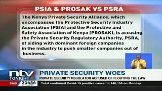 Private security regulator accused of favouring foreign companies