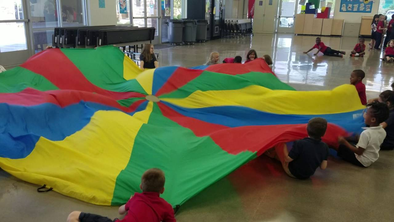 Parachute Games For Pe Youtube