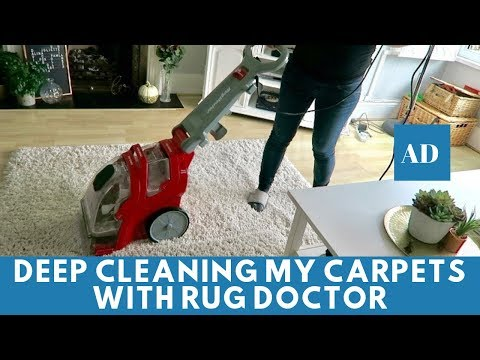 Clean With Me - Deep Cleaning My Carpets With Rug Doctor #AD
