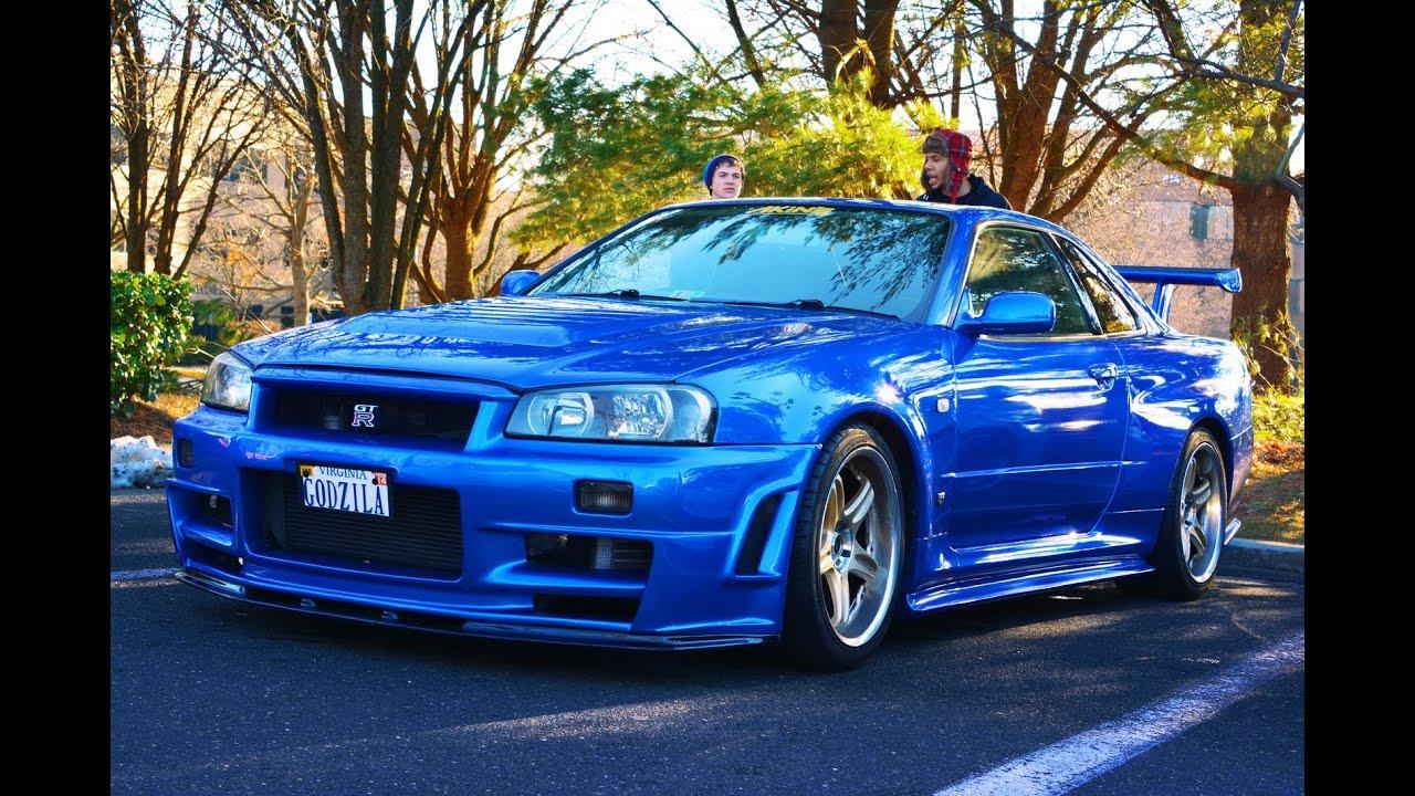Nissan R34 Gt R V Spec Ii N 252 R Bayside Blue Youtube