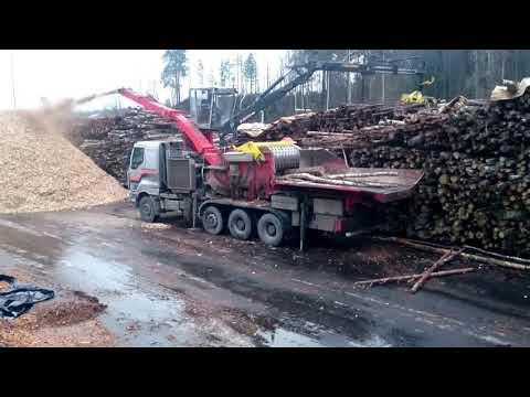 Giant wood chipper & warm December