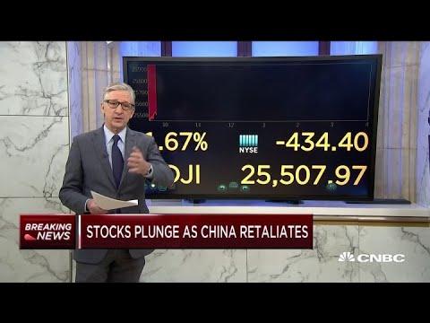 Stocks Plunge As China Retaliates To US Tariffs