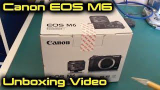 Canon EOS M6 Mirrorless Camera Unboxing