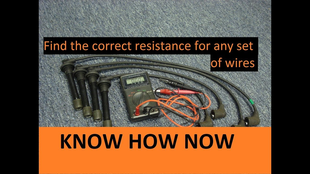 medium resolution of test spark plug wires with multimeter