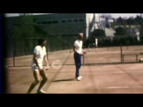 Ilie Nastase in practice with french team (FFT).Grand Prix Madrid  1972