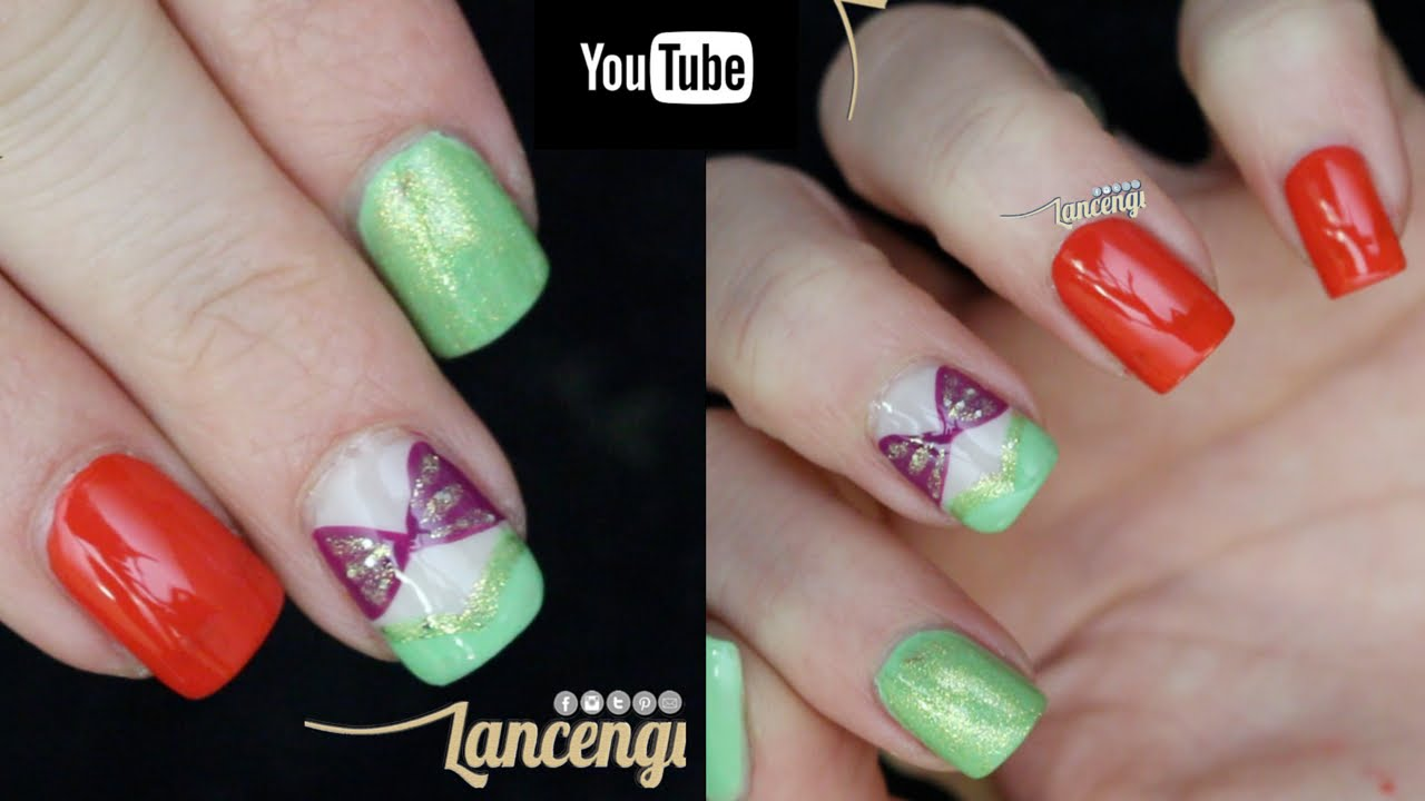 Diy Disney Nail Art The Little Mermaid Youtube