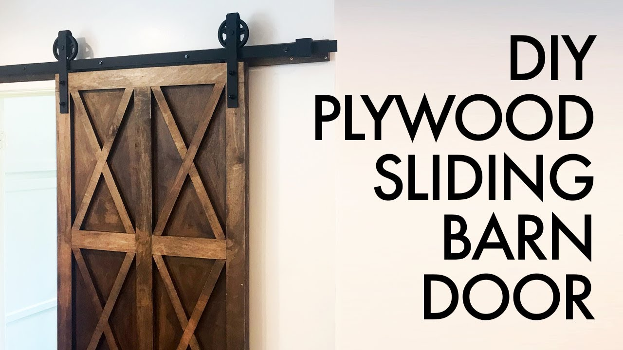 Diy Plywood Sliding Barn Door For 200 How To Build Woodworking