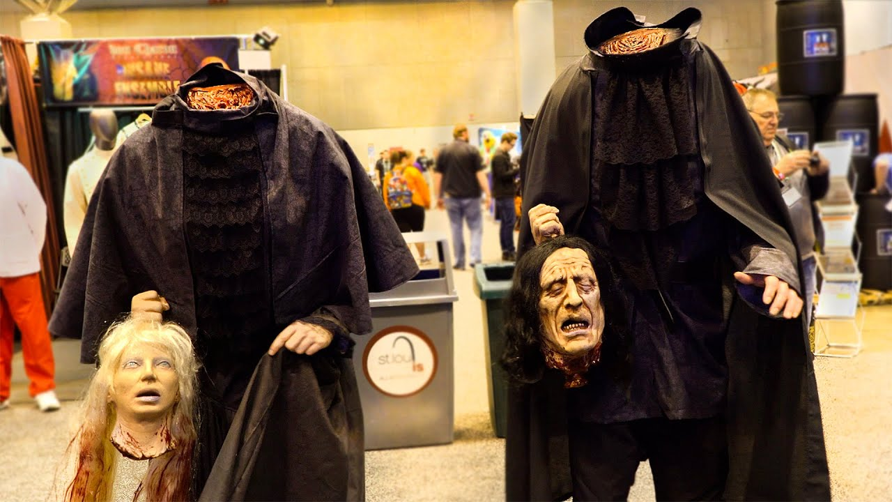 Beheaded Halloween Costumes Carry Cut Off Heads | Headless Helga and Henry