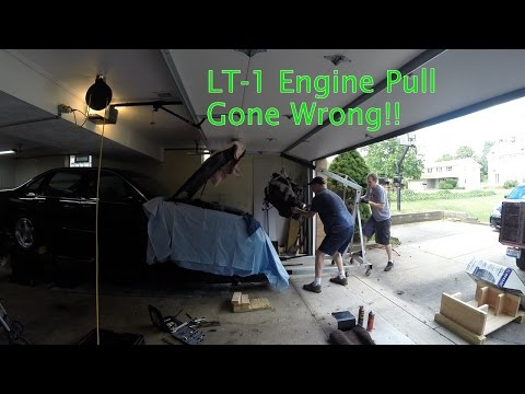 Impala Project: How NOT to pull an LT-1 Engine....ooops