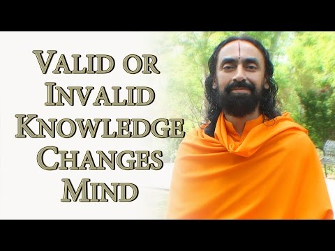 Patanjali Yoga Sutras Part7 - Swami Mukundananda - Valid or Invalid Knowledge Changes Mind