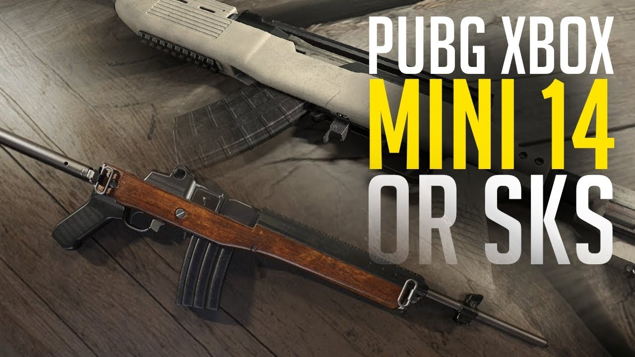 sks or mini 14 pubg xbox one x playerunknown s battlegrounds