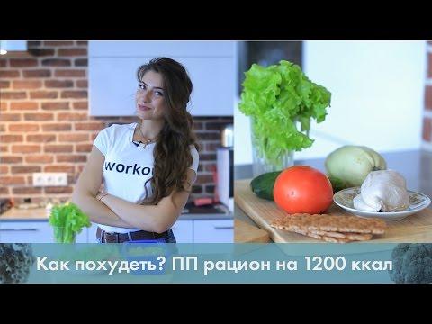 Как похудеть? ПП рацион на 1200 ккал [ Лаборатория Workout] - Простые вкусные домашние видео рецепты блюд
