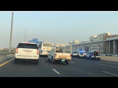 Ras Al Khor to International City Dubai   Road accident on the way