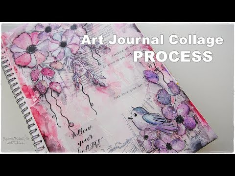 Art Journal Collage Decoupage Tutorial ♡ Maremi's Small Art ♡