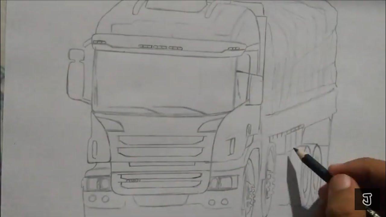 Desenhando Caminhao Scania P310 Bitruck Youtube