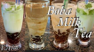 Cách Làm Trân Châu Để Làm Sữa Trân Châu Đường Đen - Brown Sugar Matcha Milk Tea W/Boba - Taylor