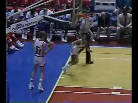 Johnny Newman Posterizes Bol and Bol Takes Revenge with a Block