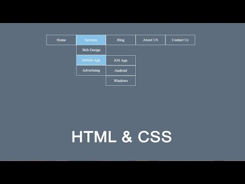 How To Create Drop Down Menu In Html And CSS | DropDown Menu Tutorial