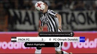 Τα στιγμιότυπα του ΠΑΟΚ-FC Olimpik Donetsk - PAOK TV