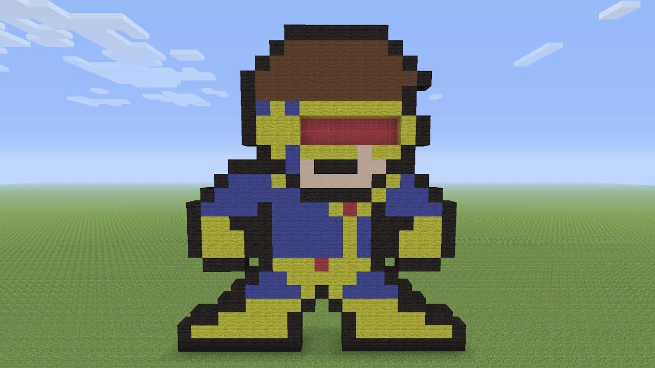Minecraft Pixel Art Cyclops From X Men