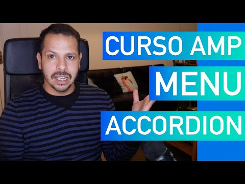 Curso AMP #11  -  Menu acordeão com AMP amp-accordion