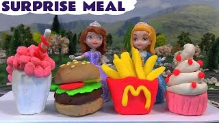 McDonalds Play Doh Surprise Meal Sofia The First Minions Dancing Princess Sofia Amber Thomas Train