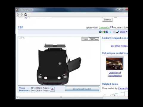 13. SketchUp - Google 3D WareHouse 사용방법