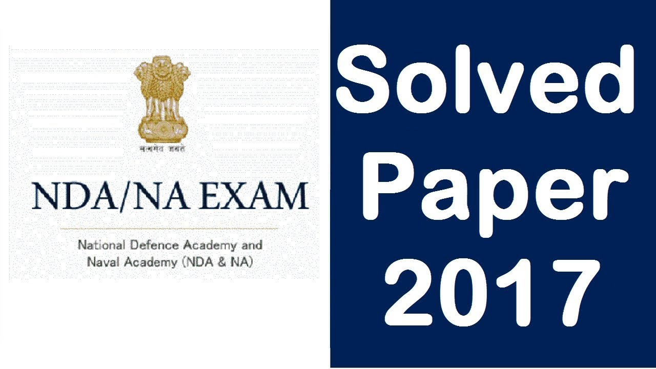 With solutions pdf exam papers nda