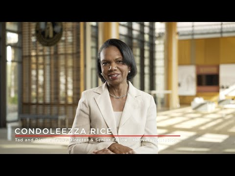 Hoover Institution Director Condoleezza Rice on the Institution's Purpose and Values