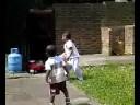 Tony Onwuegbuzie with the kids