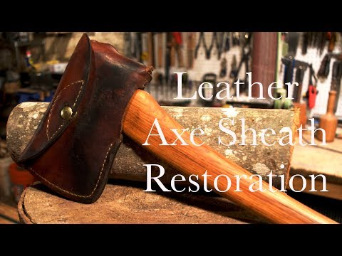 Leather Axe Sheath Restoration