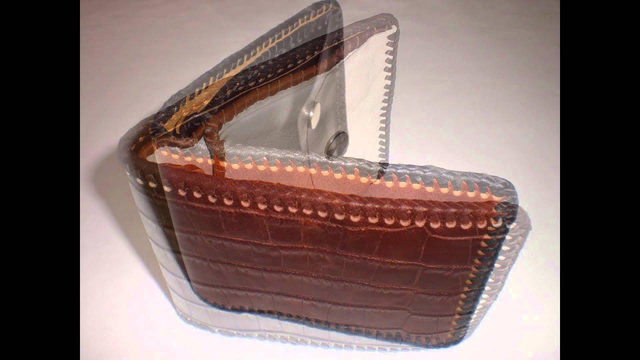 Leder Geldbörse, Leather Wallet, punzieren , nähen, Geldtasche ...