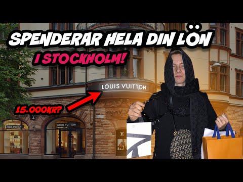 SPENDERAR HELA DIN LÖN I STOCKHOLM (Louis Vuitton Shopping Spree??)