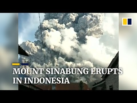 Volcano eruption at Indonesia's Mount Sinabung sends ash and smoke into the sky