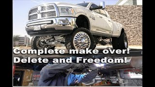 TRUE FREEDOM FOR TRUCKS! 2015 RAM DUALLY GETS A FULL DELETE  AND TUNE!