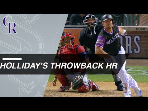 Matt Holliday turns back clock with homer for Rockies
