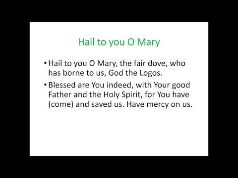 Hail to you O Mary -- Acts response