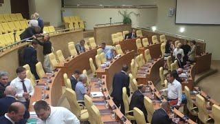 Заседание ЗС области. Обсуждение обращения к президенту по пенсионной реформе