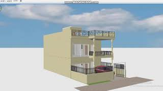 2 BHK Home Design with Car Parking