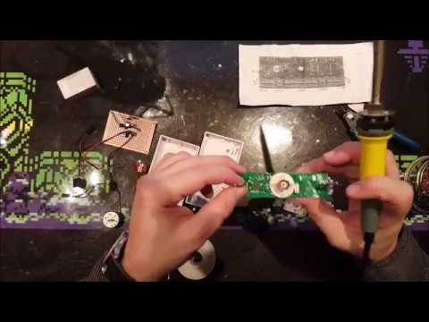 Finishing the rotating cross led dot matrix DIY kit - no happy end