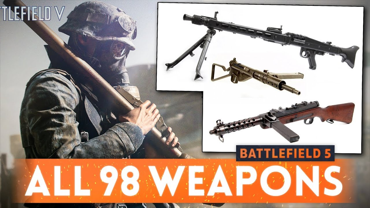 BATTLEFIELD 5: All Weapons, Planes, Tanks & Gadgets Revealed! (BF5 Launch Content List)