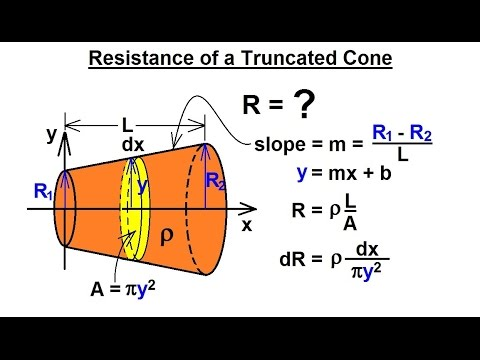 how to calculate the volume of a truncated cone