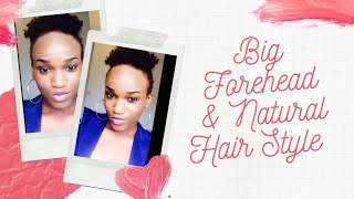 4. Big forehead + natural hairstyle