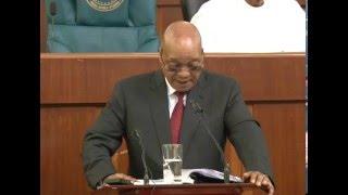 President Jacob Zuma addresses Nigerian parliament