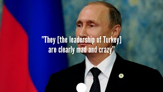 """Putin Federal Assembly address: """"[Turkish leadership] are mad"""" - Live"""